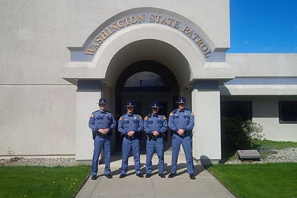 (L to R) New State Troopers; Trevor Loos, Jeffrey Isaac, Colin Cumaravel, James Kukes